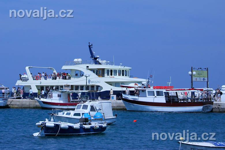 Plavba na souostroví Brijuni změstečka Fažana