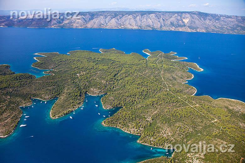 Letecké snímky -ostrov Hvar